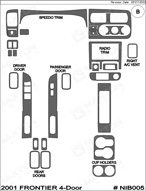 2001 Nissan Frontier Dash Kit Shadow Sheet