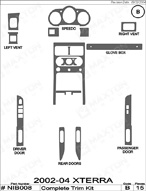 2004 Nissan Xterra Dash Kit Shadow Sheet