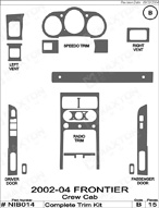 2004 Nissan Frontier Dash Kit Shadow Sheet
