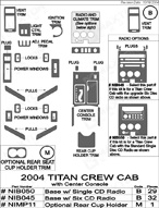 2004 Nissan Titan Dash Kit Shadow Sheet