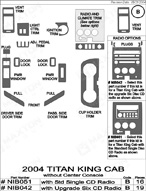 2005 Nissan Titan Dash Kit Shadow Sheet