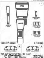 1991 Nissan 300 ZX Dash Kit Shadow Sheet