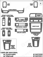 1997 Nissan Maxima Dash Kit Shadow Sheet