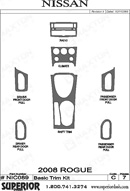 2008 Nissan Rouge Dash Kit Shadow Sheet