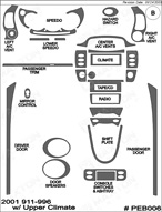 2001 Porsche 996 Dash Kit Shadow Sheet