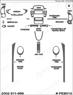 2002 Porsche 996 Dash Kit Shadow Sheet