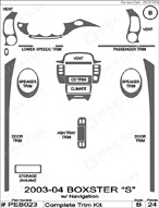 2003 Porsche Boxster_S Dash Kit Shadow Sheet