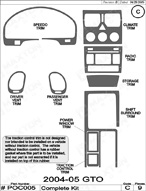 2004 Pontiac GTO Dash Kit Shadow Sheet