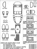 2004 Saturn Vue Dash Kit Shadow Sheet