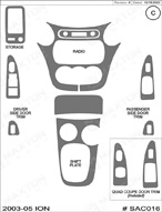2004 Saturn Ion Dash Kit Shadow Sheet
