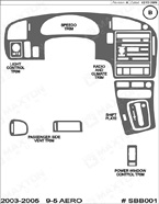 2005 SAAB 9-5 Dash Kit Shadow Sheet