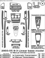 2003 SAAB 9-3 Dash Kit Shadow Sheet