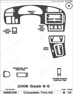 2006 SAAB 9-5 Dash Kit Shadow Sheet