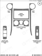 2006 Scion xB Dash Kit Shadow Sheet