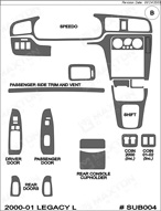 2000 Subaru Legacy Dash Kit Shadow Sheet