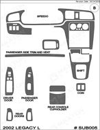2002 Subaru Legacy Dash Kit Shadow Sheet
