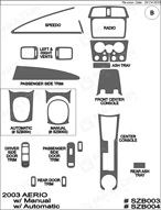 2003 Suzuki Aerio Dash Kit Shadow Sheet