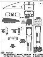 2004 Suzuki Aerio Dash Kit Shadow Sheet