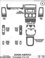2007 Suzuki Aerio Dash Kit Shadow Sheet