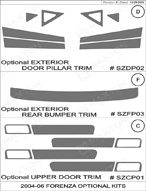 2006 Suzuki Forenza Dash Kit Shadow Sheet