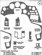 1994 Toyota Supra Dash Kit Shadow Sheet