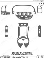 2005 Toyota Tundra Dash Kit Shadow Sheet