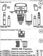 2005 Toyota Camry Dash Kit Shadow Sheet