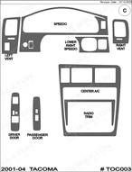 2003 Toyota Tacoma Dash Kit Shadow Sheet