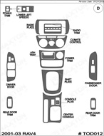 2001 Toyota Rav4 Dash Kit Shadow Sheet