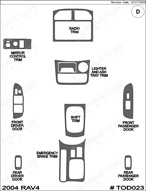 2004 Toyota Rav4 Dash Kit Shadow Sheet