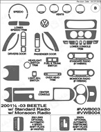 2002 Volkswagen Beetle Dash Kit Shadow Sheet