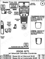 2007 Volkswagen GTI Dash Kit Shadow Sheet